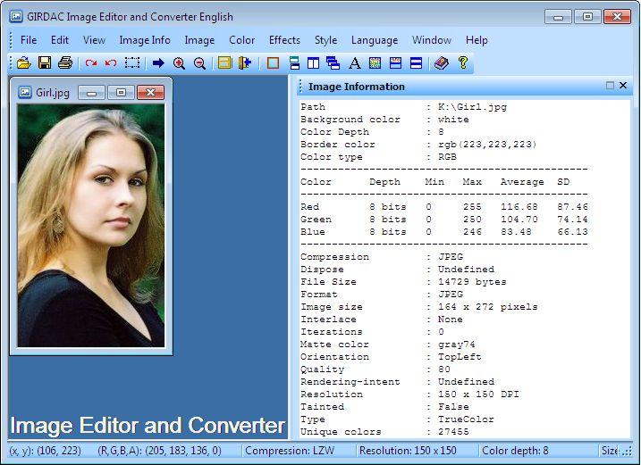 Click to view Image Editor and Converter 4.0.1.1 screenshot